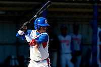 14 September 2009: Shortstop Boung-Gon Jeung of South Korea is seen at bat during the 2009 Baseball World Cup Group F second round match game won 15-5 by South Korea over Great Britain, in the Dutch city of Amsterdan, Netherlands.