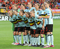 20170724 - TILBURG , NETHERLANDS : Belgian team  pictured during the female soccer game between Belgium and The Netherlands  , the thirth game in group A at the Women's Euro 2017 , European Championship in The Netherlands 2017 , Monday 24 th June 2017 at Stadion Koning Willem II  in Tilburg , The Netherlands PHOTO SPORTPIX.BE | DIRK VUYLSTEKE