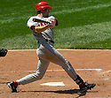 Steve Finley of the Los Angeles Angels in action against the Cleveland Indians. ....Angels won 2-1.....David Durochik / SportPics..