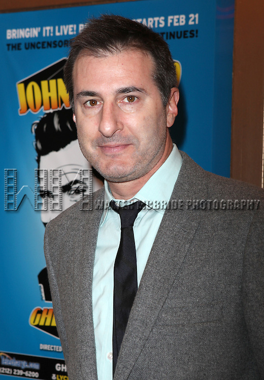 Jon Robin Baitz.attending the Broadway Opening Night Performance of  'Ghetto Klown'  at the Lyceum Theatre in New York City.