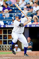 Stephen Vogt #30 of the Durham Bulls at bat against the Charlotte Knights at Durham Bulls Athletic Park on August 28, 2011 in Durham, North Carolina.   (Brian Westerholt / Four Seam Images)
