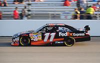 May 2, 2008; Richmond, VA, USA; NASCAR Sprint Cup Series driver Denny Hamlin during qualifying for the Dan Lowry 400 at the Richmond International Raceway. Mandatory Credit: Mark J. Rebilas-US PRESSWIRE