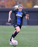 20191123 – BRUGGE, BELGIUM : Brugge's Raquel Viaene pictured during a women soccer game between Dames Club Brugge and K AA Gent Ladies on the ninth matchday of the Belgian Superleague season 2019-2020 , the Belgian women's football  top division , saturday 23 th November 2019 at the Jan Breydelstadium – terrain 4  in Brugge  , Belgium  .  PHOTO SPORTPIX.BE | DAVID CATRY