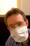 portrait of doctor wearing mask