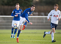 Antony Evans of Everton shoots and scores the winning goal during the U23 - Premier League 2 match between Tottenham Hotspur U23 and Everton at Tottenham Training Ground, Hotspur Way, England on 15 January 2018. Photo by Vince  Mignott / PRiME Media Images.