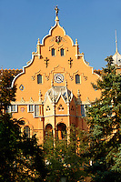 Art Nouveau (Sezession) City Hall designed by Lechner Ödön with Zolnay tiles, Hungary Kecskemét