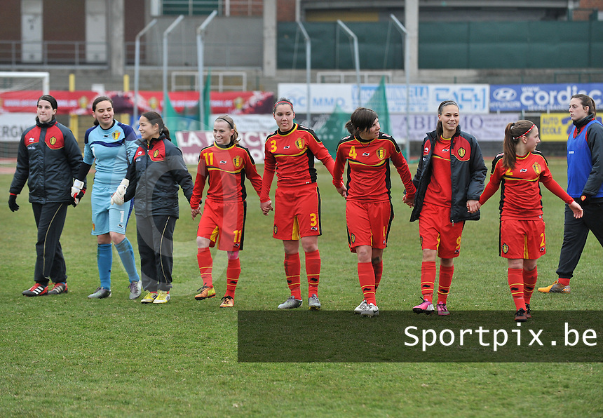 Belgium U19 - Switzerland U19 : Belgium celebrating their win over the Swiss team.foto DAVID CATRY / Nikonpro.be