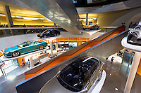 Mercedes-Benz concept cars in their museum gallery in Stuttgart, Bavaria, Germany