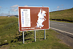 Welcome to Unst sign and map, Unst, Shetland Islands, Scotland