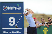 Paul Dunne (IRL) on the 9th tee during Round 3 of the Dubai Duty Free Irish Open at Ballyliffin Golf Club, Donegal on Saturday 7th July 2018.<br /> Picture:  Thos Caffrey / Golffile