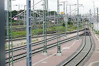 Besuch im ICE-Werk Leipzig..Im Bild: Schienengewirr vor der ICE-Halle. Foto: Jan Kaefer / aif