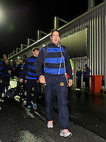 4th January 2014; Leinster's Mike McCarthy arrives at the Sportsground ahead of the game. Rabodirect Pro12, Connacht v Leinster, Sportsground, Galway. Picture credit: Tommy Grealy/actionshots.ie.
