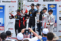 IMSA WeatherTech SportsCar Championship<br /> Chevrolet Sports Car Classic<br /> Detroit Belle Isle Grand Prix, Detroit, MI USA<br /> Saturday 3 June 2017<br /> 31, Cadillac DPi, P, Dane Cameron, Eric Curran, 10, Cadillac DPi, P, Ricky Taylor, Jordan Taylor, 70, Mazda DPi, P, Tom Long, Joel Miller<br /> World Copyright: Richard Dole<br /> LAT Images<br /> ref: Digital Image RD_DTW_17_0418