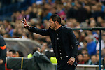 Atletico de Madrid's coach Diego Pablo Simeone during quarterfinal first leg Champions League soccer match at Vicente Calderon stadium in Madrid, Spain. April 14, 2015. (ALTERPHOTOS/Victor Blanco)