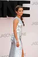 LONDON, ENGLAND - JULY 11: Alicia Vikander attending the 'Jason Bourne' European Premiere at Odeon Cinema, Leicester Square on July 11, 2016 in London, England.<br /> CAP/MAR<br /> &copy;MAR/Capital Pictures /MediaPunch ***NORTH AND SOUTH AMERICAS ONLY***