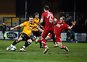 Josh Coulson of Cambridge United shoots wide during the Blue Square Bet Premier match between Cambridge United and Kidderminster Harriers at the Abbey Stadium, Cambridge on 18th February, 2011 .© Kevin Coleman 2011.