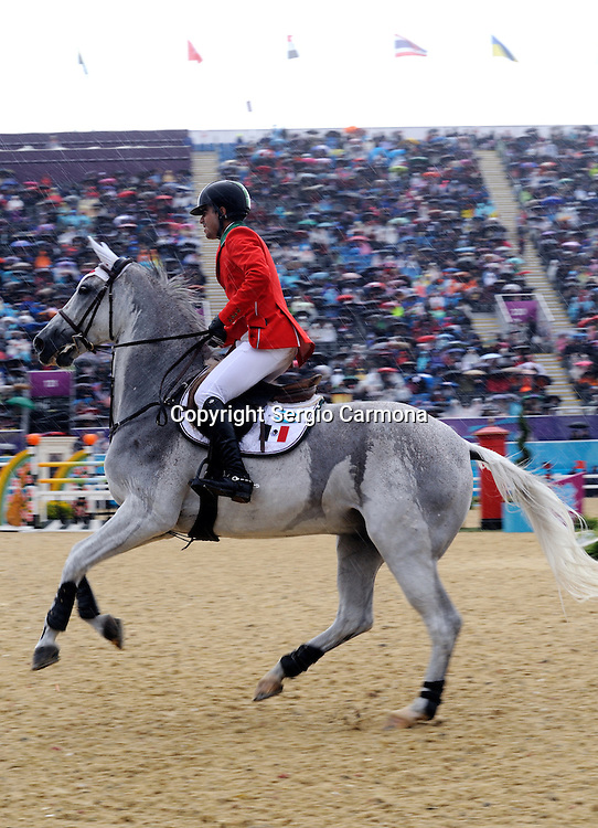Olympic Games 2012; Equestrian - Venue: Greenwich Park. Nicolas Pizarro (MEX).Horse: Crossing Jordan.