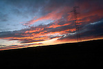 Sunrise, seen from the van  that drives relatives of Basque prisoners to visit their loved ones, in Herrera de la Mancha prison (Manzanares, Ciudad Real province). November 18, 2006. Basque prisoners are dispersed on Spanish and French prisons. Usually their relatives travel together using vans driven by volunteers who they call themselves 'Mirentxin' (something similar to 'little Mari'). (Bostok Photo/Gari Garaialde)