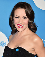 BEVERLY HILLS, CA - APRIL 14: Actress Alyssa Milano attends the 7th Biennial UNICEF Ball at the Beverly Wilshire Four Seasons Hotel on April 14, 2018 in Beverly Hills, California.<br /> CAP/ROT/TM<br /> &copy;TM/ROT/Capital Pictures