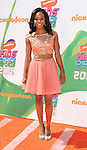 Gabby Douglas arriving at the Nickelodeon's Kids Choice Sports Awards 2014 held at The UCLA Pauley Pavilion Los Angeles, CA. July 17, 2014.