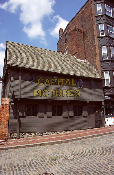 The Paul Revere House, North Square, Boston, Massachusetts, New England, USA. Oldest house in Boston