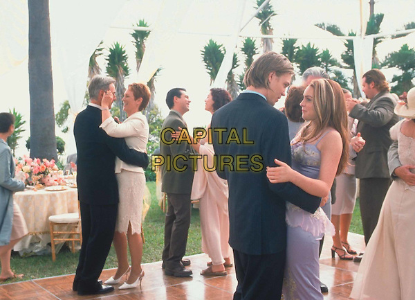 MARK HARMON, JAMIE LEE CURTIS, LINDSAY LOHAN & CHAD MICHAEL MURRAY.in Freaky Friday.Filmstill - Editorial Use Only.Ref: FB.www.capitalpictures.com.sales@capitalpictures.com.Supplied by Capital Pictures