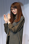 Mirei Kiritani, Oct 6, 2015 : Winners of The 28th Japan Best Dressed Eyes Awards were announced at Tokyo Big Site on October 6, 2015. Celebrities, politicians and businessmen with outstanding eyewear fashion sense were presented with the award. (Photo by Sho Tamura/AFLO)