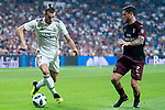Real Madrid Gareth Bale and A.C. Milan Davide Calabria during Santiago Bernabeu Trophy match at Santiago Bernabeu Stadium in Madrid, Spain. August 11, 2018. (ALTERPHOTOS/Borja B.Hojas)