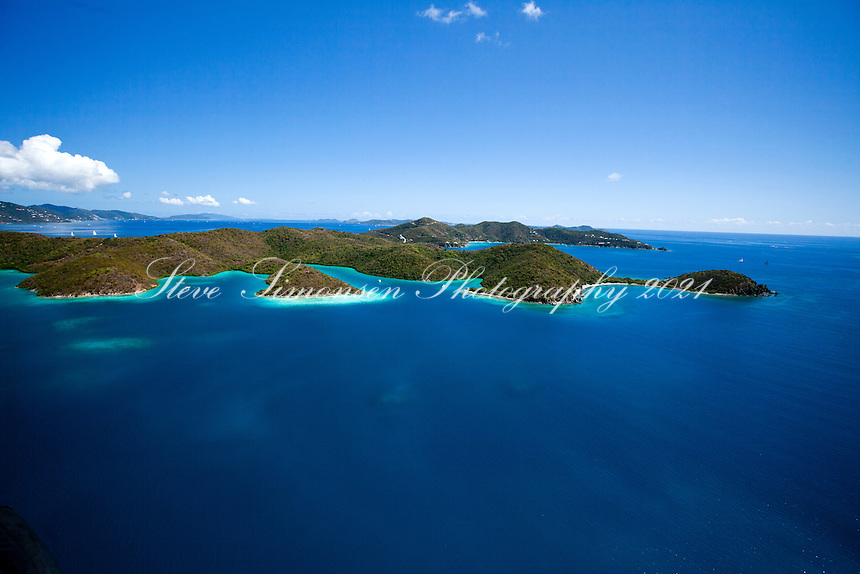 Princess Bay, Otter Creek,  Water Creek and beyond to Round Bay.Hurricane Hole.St. John.U.S. Virgin Islands