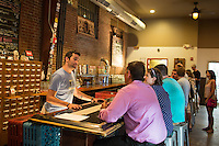 DURHAM, N.C. Tuesday August 5, 2014 - Bartender Steve Shpak (CQ) at Fullsteam Brewery in Durham, N.C. (Justin Cook for The New York Times)