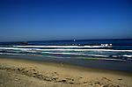 Sandy beach and waves breaking, San Diego, California, USA