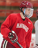 Jimmy Vesey (Harvard - 19) - The Harvard University Crimson practiced on Friday, October 22, 2013, at Bright-Landry Hockey Center in Cambridge, Massachusetts.