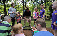 Pictured: Actor Rhys McLellan (C) Saturday 13 August 2016<br />Re: Grow Wild event at  Furnace to Flowers site in Ebbw Vale, Wales, UK