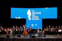 Cerimonia di consegna del premio Le Maschere del Teatro Italiano al Teatro San Carlo di Napoli , 5 Settembre 2014