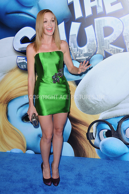 WWW.ACEPIXS.COM . . . . . .July 24, 2011...New York City...Jayma Mays attends the premiere of 'The Smurfs' at the Ziegfeld Theater on July 24, 2011 in New York City....Please byline: KRISTIN CALLAHAN - ACEPIXS.COM.. . . . . . ..Ace Pictures, Inc: ..tel: (212) 243 8787 or (646) 769 0430..e-mail: info@acepixs.com..web: http://www.acepixs.com .