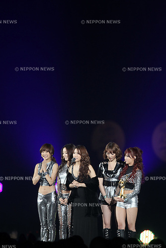 KARA, .Jan 11, 2012.The 26th Golden Disk Awards Osaka was held in Japan. A well known Korean music award took place for the first time overseas and was held for two days, starring famous Korean pop groups.(Photo by Akihiro Sugimoto/AFLO) [1080]