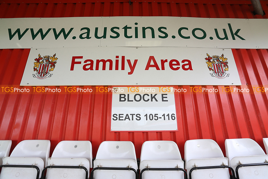 Austin Stand Family Area during Stevenage vs Morecambe, Sky Bet EFL League 2 Football at the Lamex Stadium on 14th April 2017