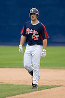 June 1, 2008: Tacoma Rainiers' Jeff Clement was 2-for-4 with a run scored in a Pacific Coast League game against the Salt Lake Bees at Cheney Stadium in Tacoma, Washington.