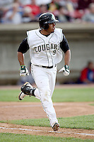 June 8, 2009: Carlos Arrieche (9) of the Kane County Cougars at Elfstrom Stadium in Geneva, IL..  Photo by: Chris Proctor/Four Seam Images