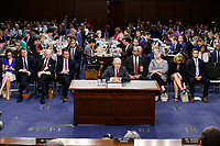 "United States Attorney General Jeff Sessions gives testimony before the US Senate Select Committee on Intelligence to  ""examine certain intelligence matters relating to the 2016 United States election"" on Capitol Hill in Washington, DC on Tuesday, June 13, 2017.  In his prepared statement Attorney General Sessions said it was an ""appalling and detestable lie"" to accuse him of colluding with the Russians. Photo Credit: Alex Brandon/CNP/AdMedia"