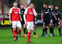 Fleetwood Town's Dean Marney reacts after Portsmouth's first goal<br /> <br /> Photographer Richard Martin-Roberts/CameraSport<br /> <br /> The EFL Sky Bet League One - Fleetwood Town v Portsmouth - Saturday 29th December 2018 - Highbury Stadium - Fleetwood<br /> <br /> World Copyright &not;&copy; 2018 CameraSport. All rights reserved. 43 Linden Ave. Countesthorpe. Leicester. England. LE8 5PG - Tel: +44 (0) 116 277 4147 - admin@camerasport.com - www.camerasport.com