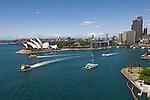 Sydney, New South Wales, Australia; Sydney Opera House, viewed from Sydney Harbor Bridge walking path © Matthew Meier, matthewmeierphoto.com All Rights Reserved