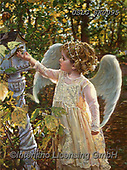 CHILDREN, KINDER, NIÑOS, paintings+++++,USLGSK0095,#K#, EVERYDAY ,Sandra Kock, victorian ,angels