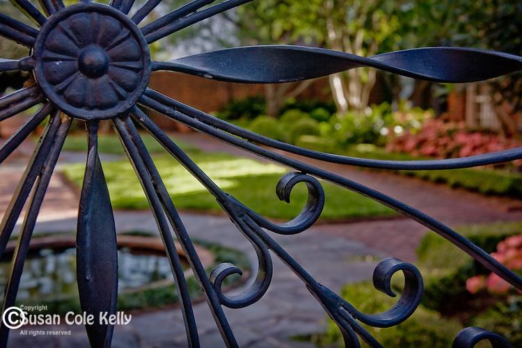 Garden at The Isaiah Davenport House, Savannah, GA, USA