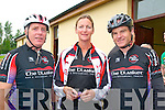 Ring of North Kerry Cycle: Pictured prior to the start of the Ring of North Kerry Cycle on Saturday morning last were in Pierce Heaslip, Aine Horan & Ken Feeley from the Chain Gang Cycling Club, Tralee.