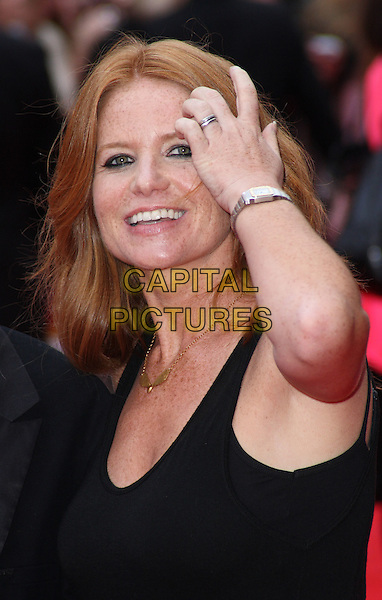 "PATSY PALMER .The UK film premiere of ""The Ugly Truth""  held at the Vue West End, Leicester Square, London, England..August 4th 2009.half length black tank top bracelet ting silver .CAP/JIL.©Jill Mayhew/Capital Pictures"
