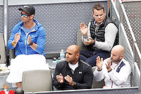 Andy Murray's technical team during Madrid Open Tennis 2016 Semifinal match.May, 7, 2016.(ALTERPHOTOS/Acero) /NortePhoto.com