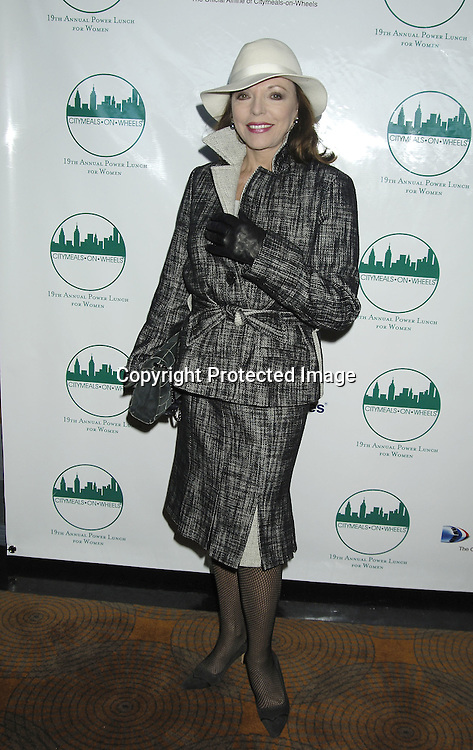 Joan Collins ..at The Citymeals-on-Wheels 19th Annual Power Lunch for Women on November 18, 2005 at The Rainbow Room. ..Photo by Robin Platzer, Twin Images