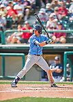 14 March 2016: Tampa Bay Rays infielder Nick Franklin in action during a pre-season Spring Training game against the Atlanta Braves at Champion Stadium in the ESPN Wide World of Sports Complex in Kissimmee, Florida. The Ray fell to the Braves 5-0 in Grapefruit League play. Mandatory Credit: Ed Wolfstein Photo *** RAW (NEF) Image File Available ***
