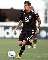 Santino Quaranta #25 of D.C. United during an international friendly match against Portsmouth FC at RFK Stadium on July 24 2010, in Washington D.C. United won 4-0.